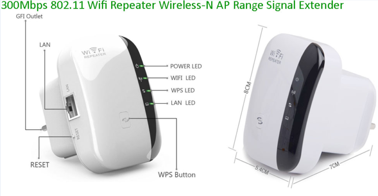 Wireless-N Repeater Specifications